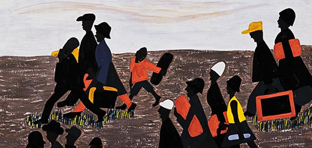 From Jacob Lawrence's migration series, 1941